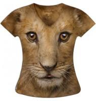 Женская футболка Львенок KP148