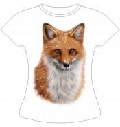 Женская футболка с лисой 797