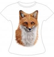 Женская футболка с лисой
