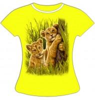 Женская футболка со львятами