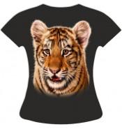 Женская футболка с тигренком 798
