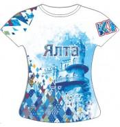 Женская футболка Ялта-Ромбы