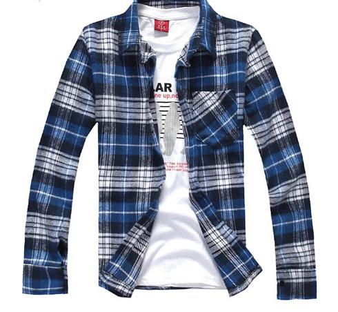 Сочетание футболки и рубашки