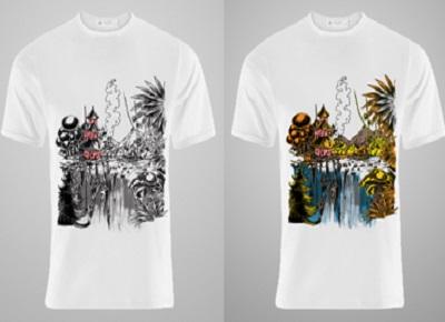 футболка-хамелеон