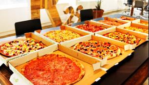 пицца для мужчин коллег