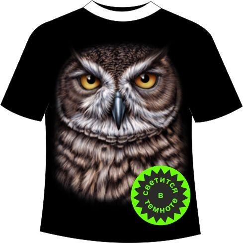 футболка с совой