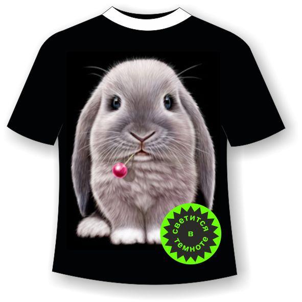 футболка с зайчиком для девочки