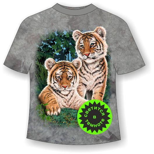 футболка с тиграми для парня